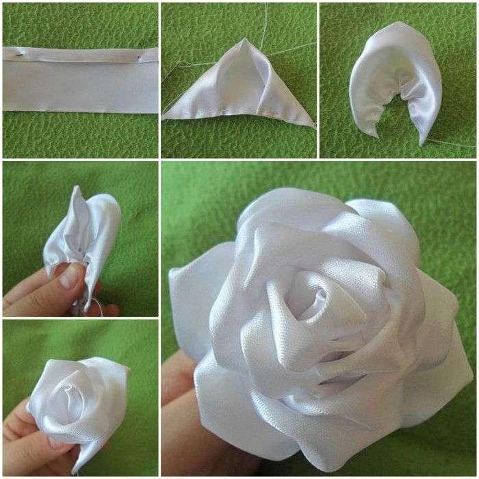 Rosa bianco di raso