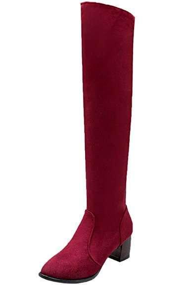 Stivali rossi alla coscia BigTree