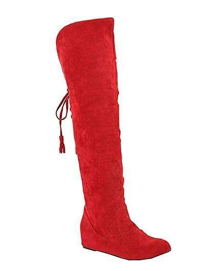 Stivali rossi bassi Minetom