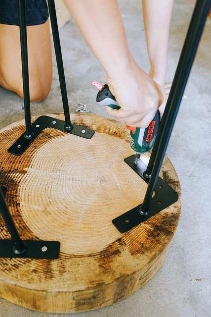 Tavolino di legno
