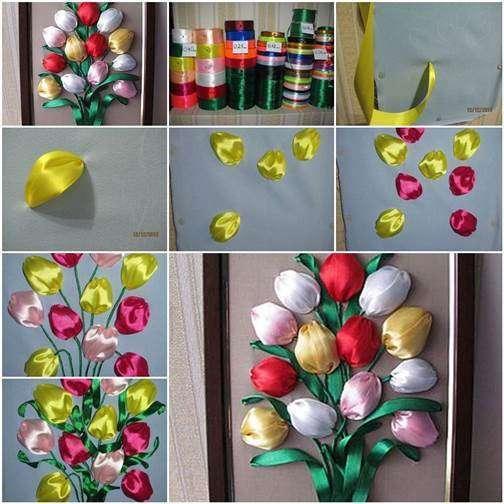 Tulipani con nastro colorato