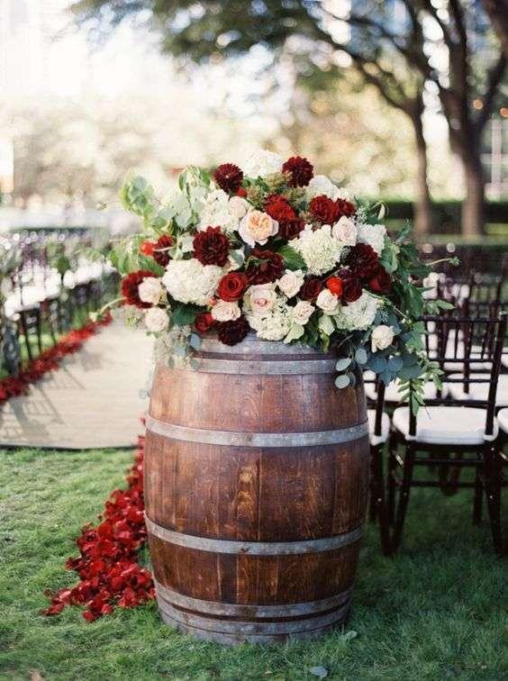 Accessori per il matrimonio a tema vino