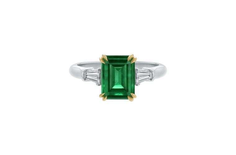 Anello di fidanzamento con smeraldo Harry Winston