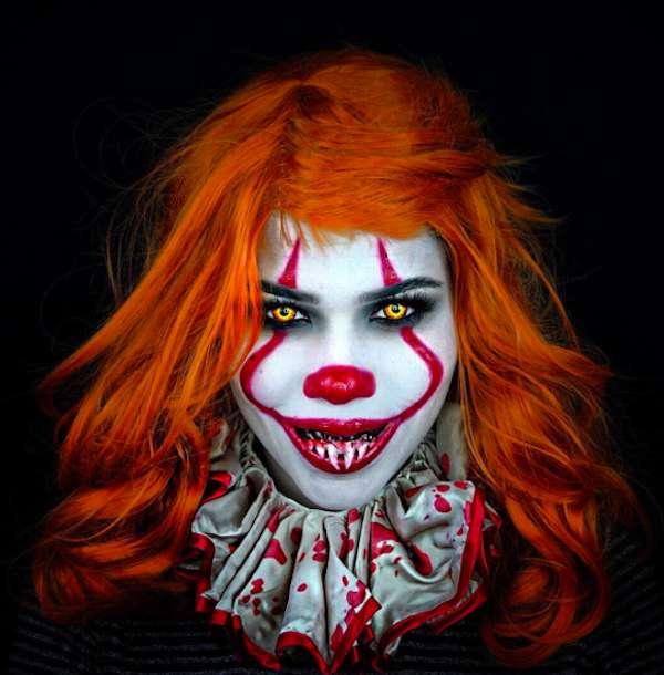 It il clown, il make up per Halloween