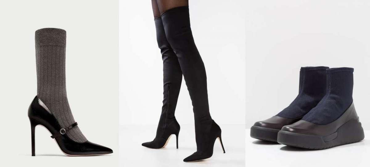 Scarpe e stivali a calza