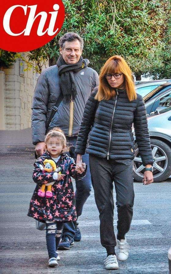 Fabrizio Frizzi con la famiglia