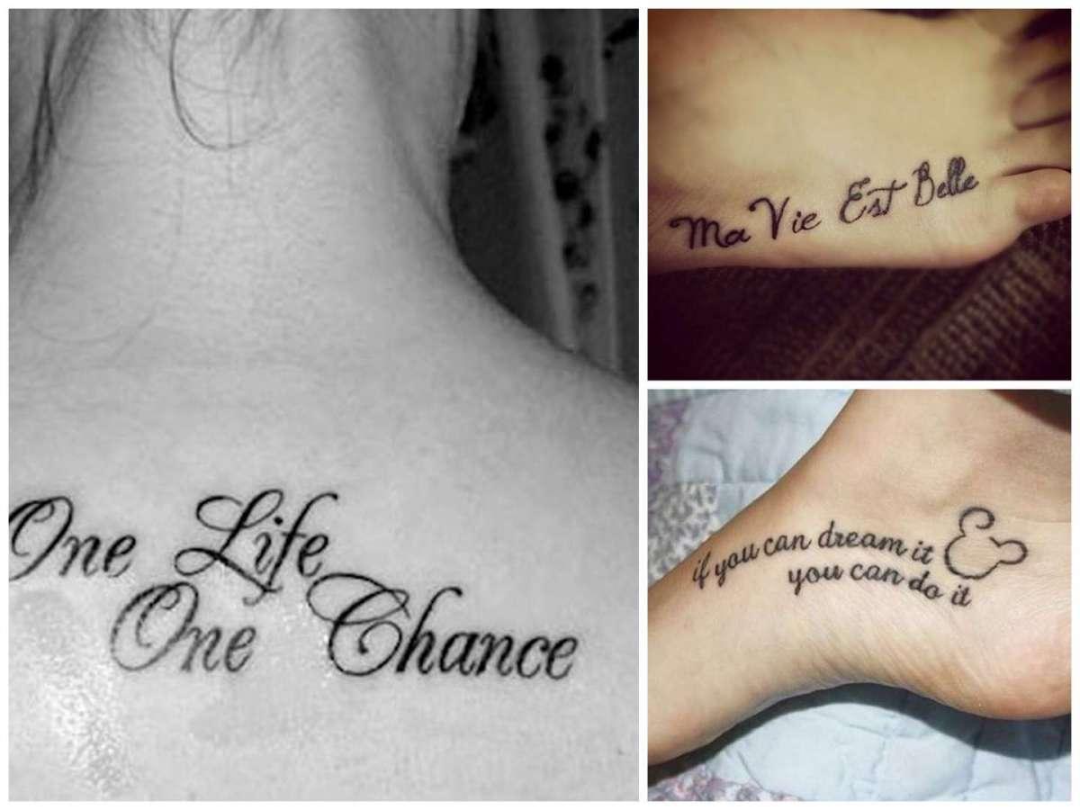 Frasi sulla vita per tatuaggi