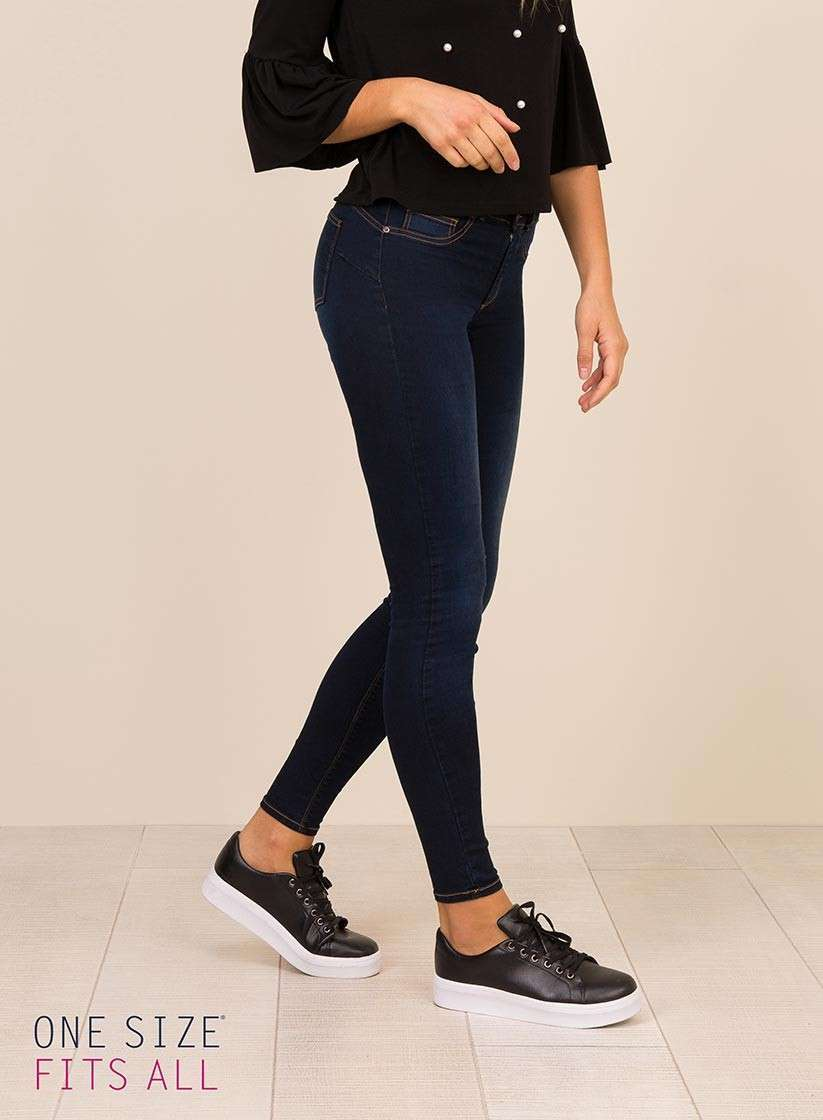 Jeans a vita alta taglia unica Tiffosi