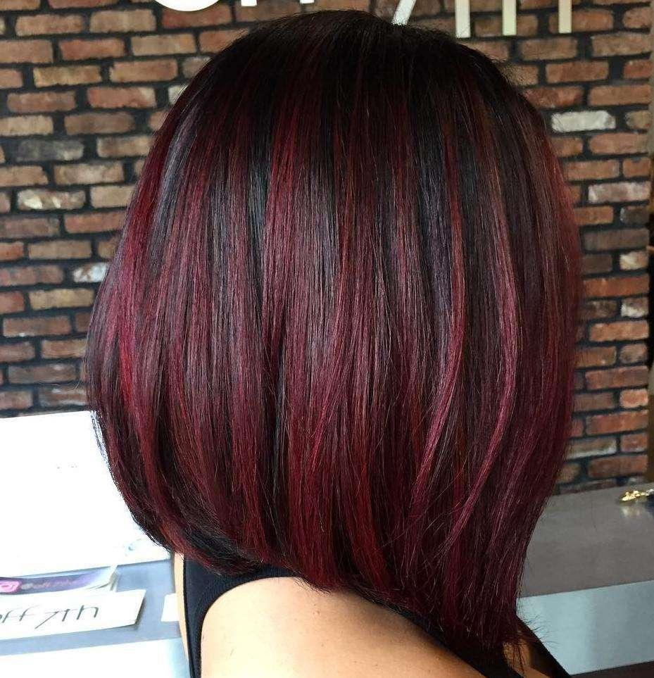 Shatush capelli corti rosso ciliegia