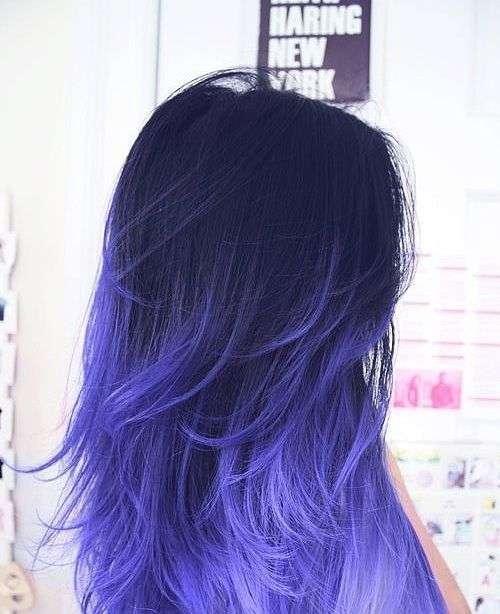 Shatush viola blu