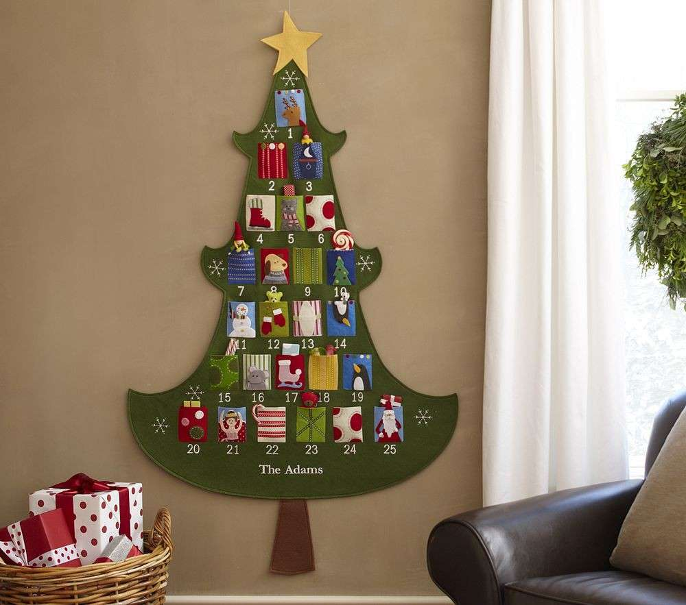Un calendario dell'avvento che è anche albero di Natale