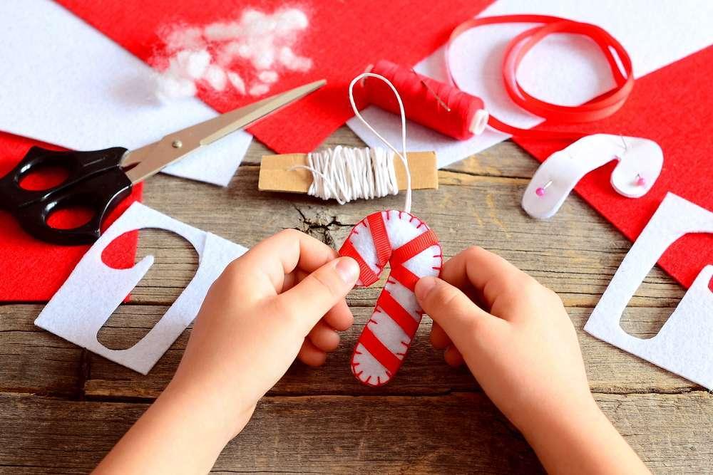 Lavoretti di Natale con pannolenci