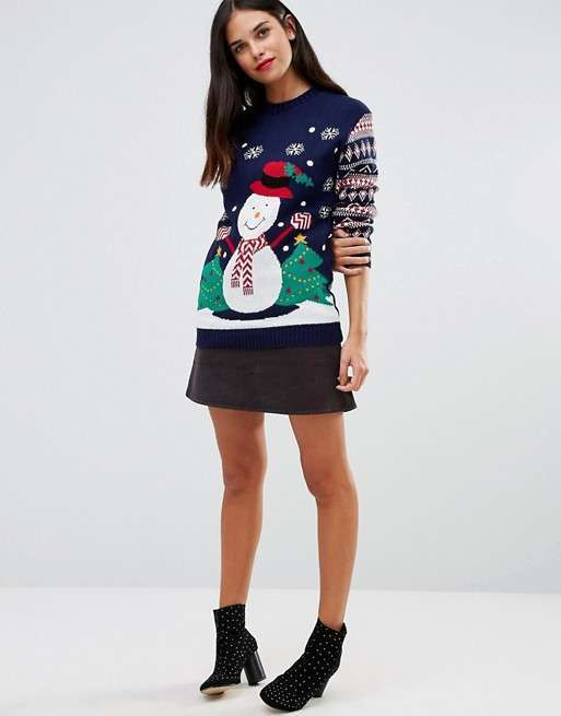Maglione con stampa natalizia