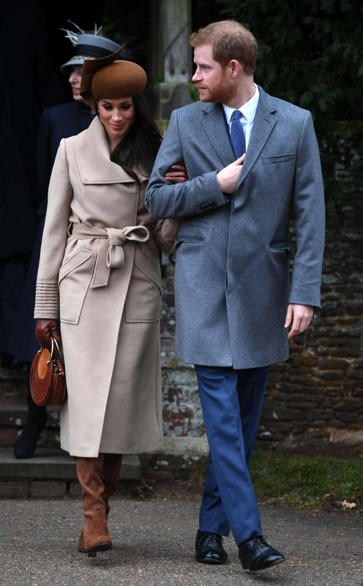 Meghan arriva in chiesa con Harry