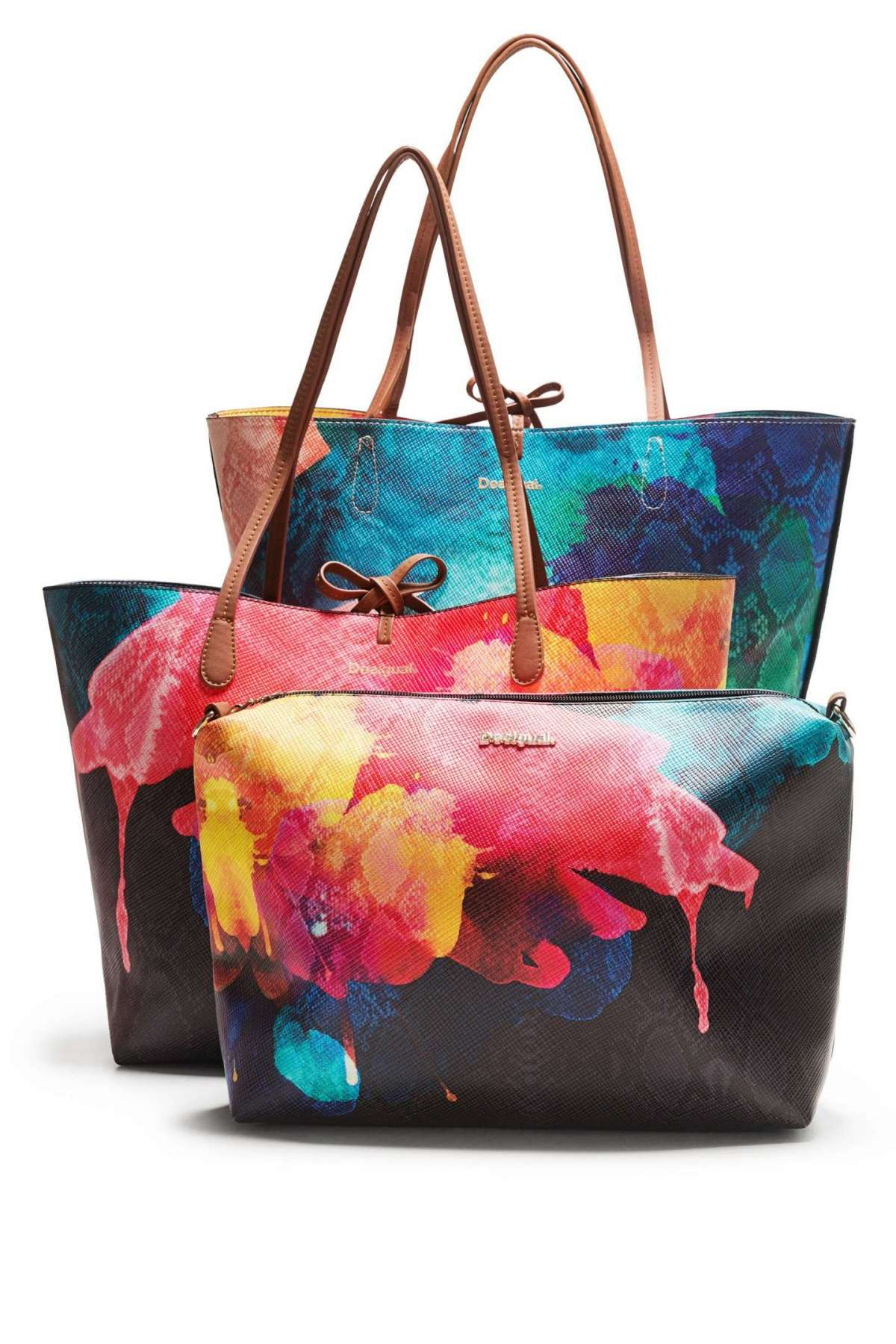 Shopper Desigual colorate