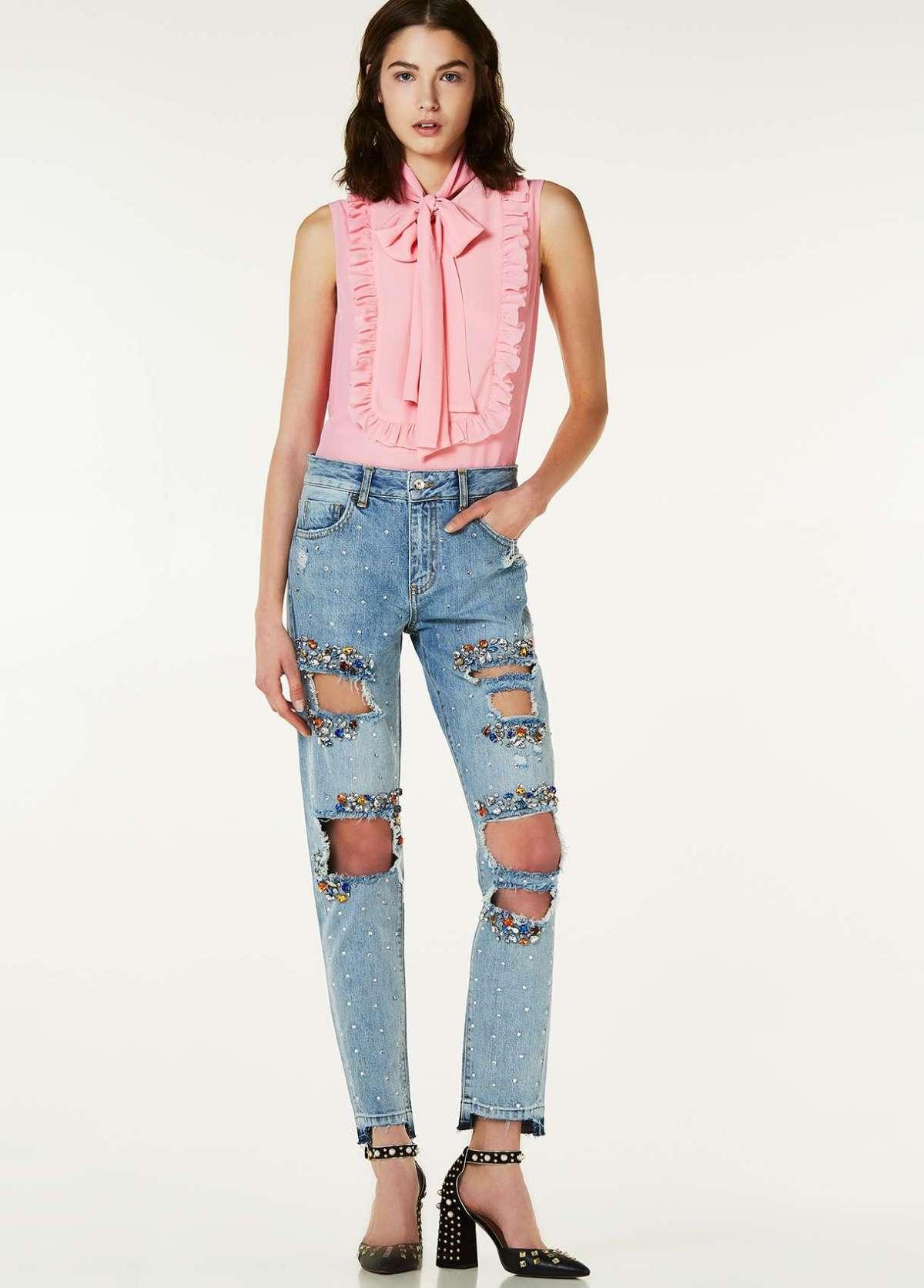 Jeans boyfriend con applicazioni Liu Jo