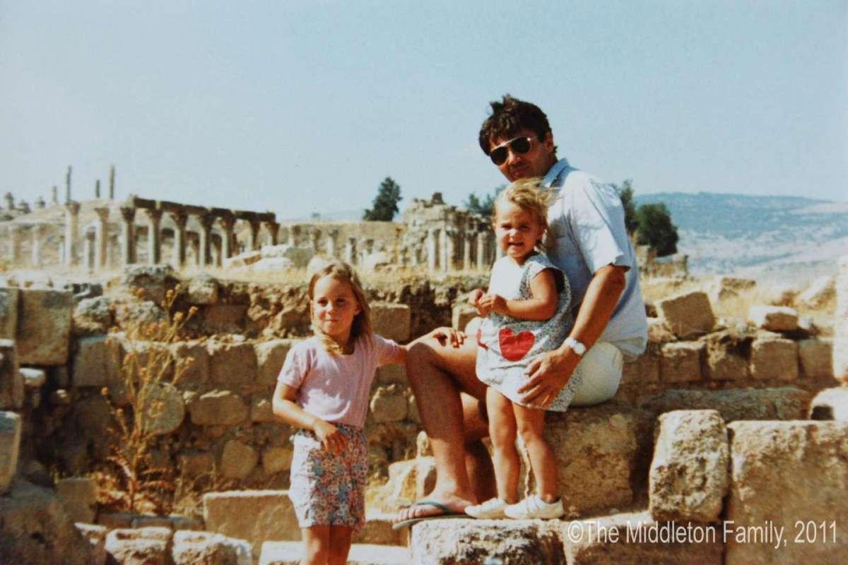 Kate con papà e Pippa