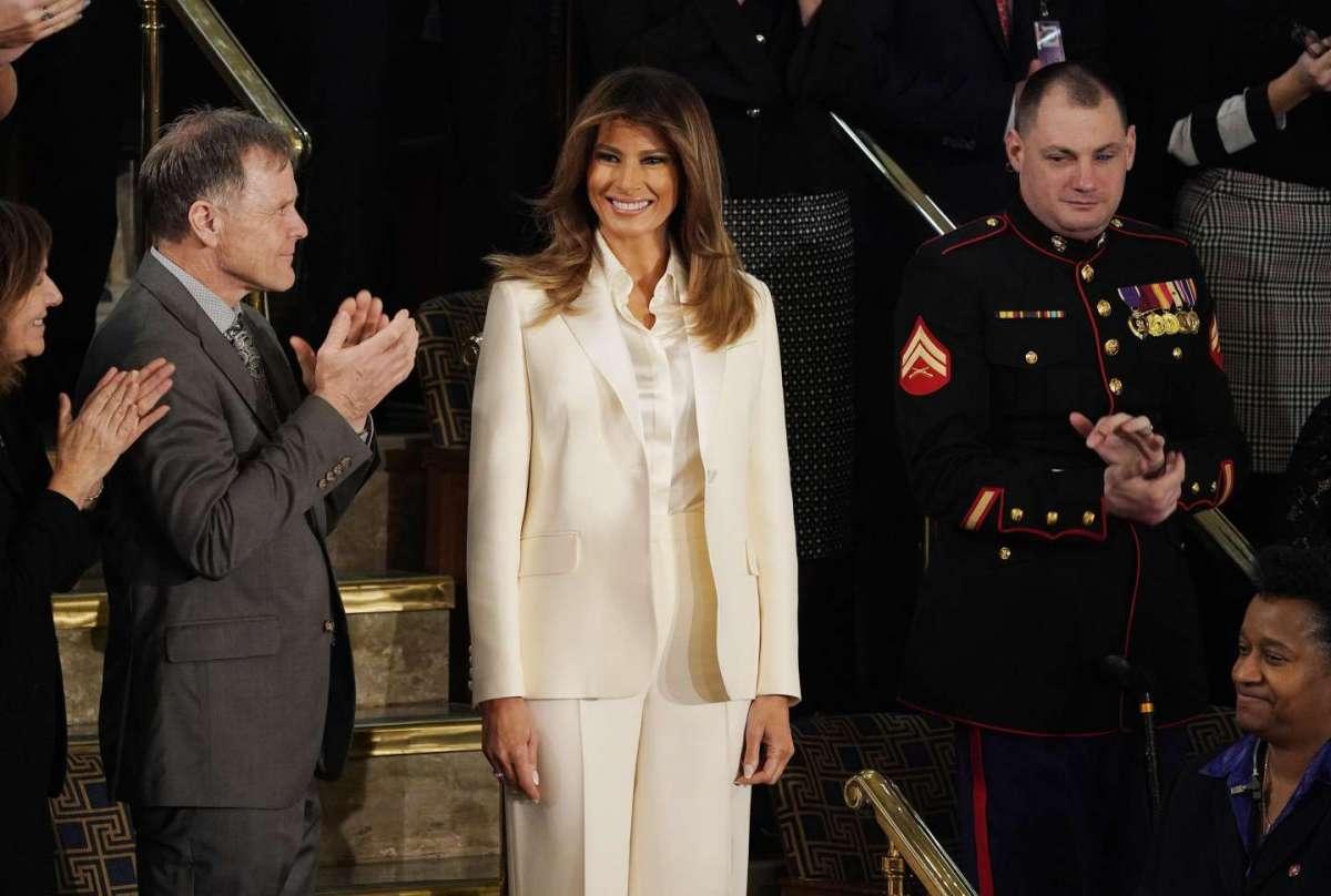 Melania Trump a Capitol Hill: applausi per lei