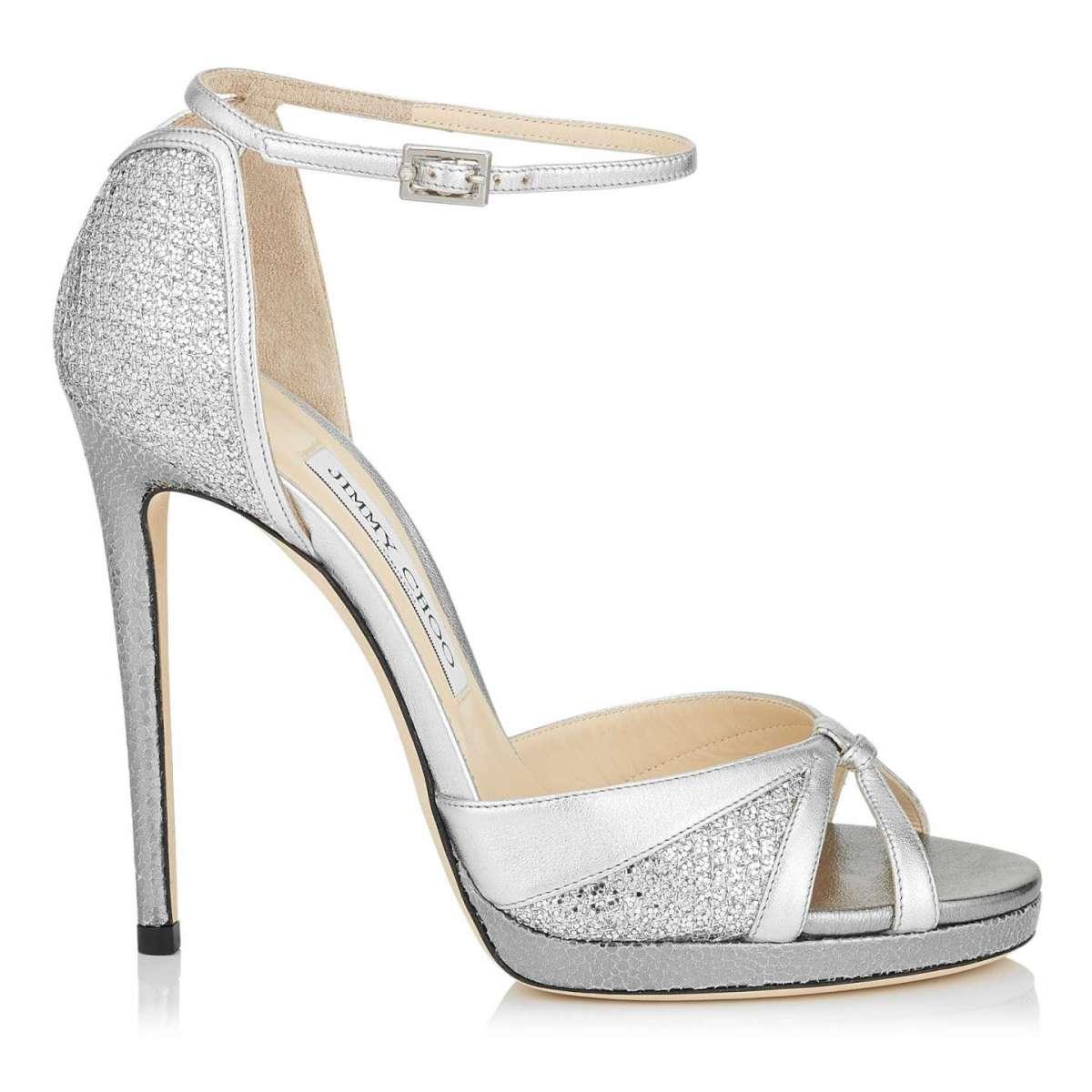 Sandali alti argento