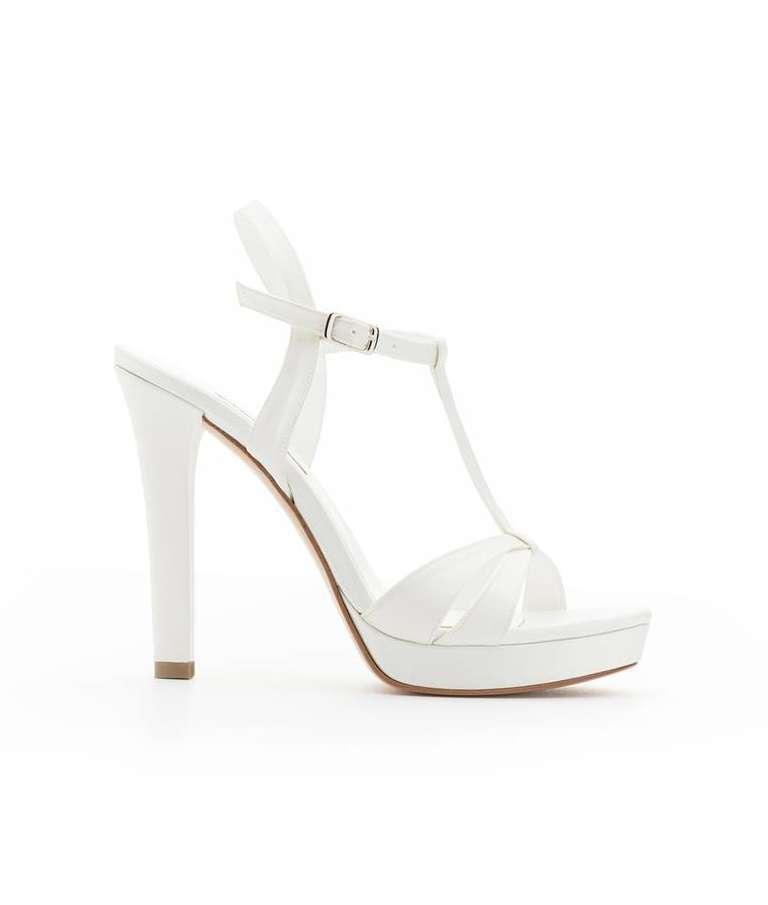 Sandali da sposa con plateau Albano