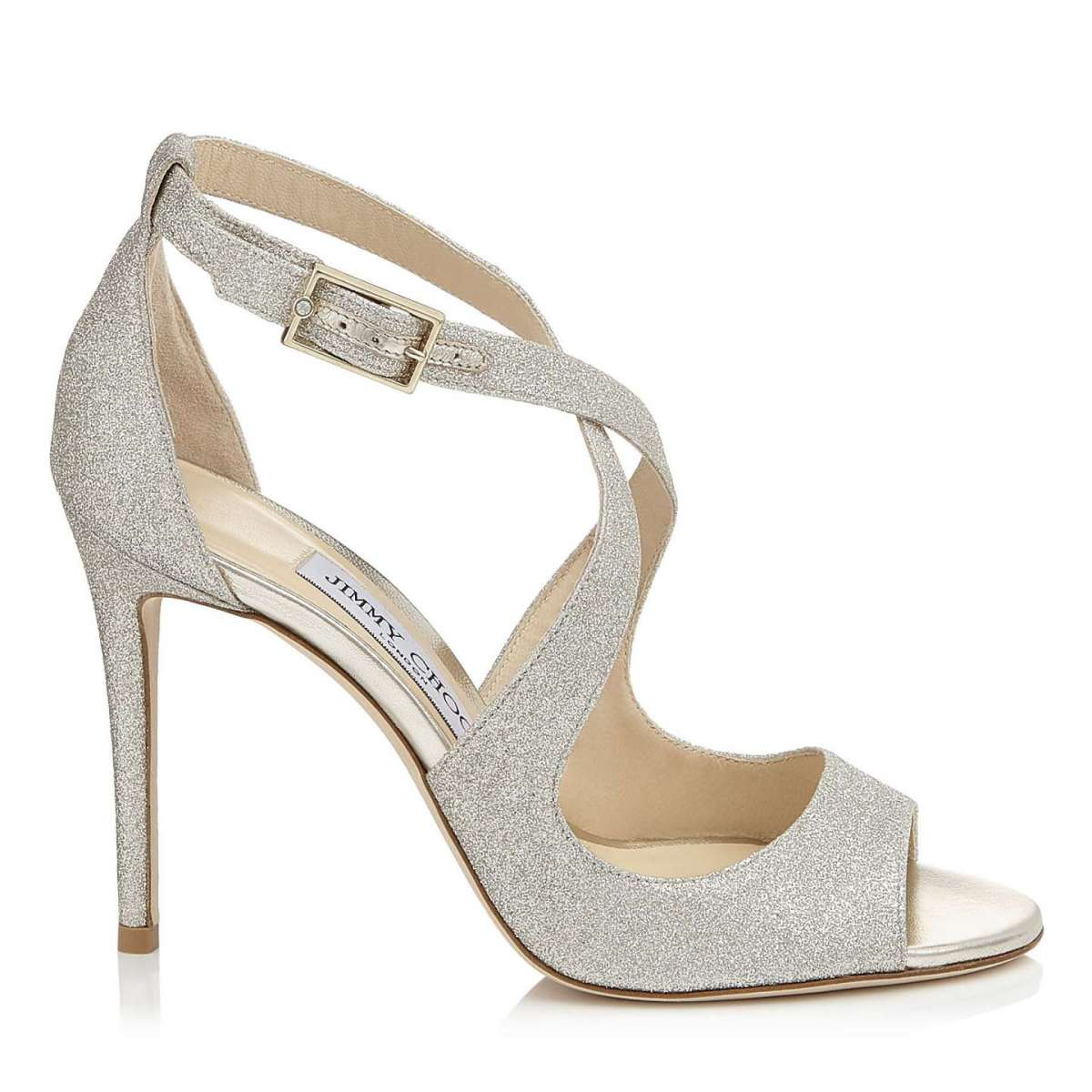 Sandali da sposa grigio perla Jimmy Choo