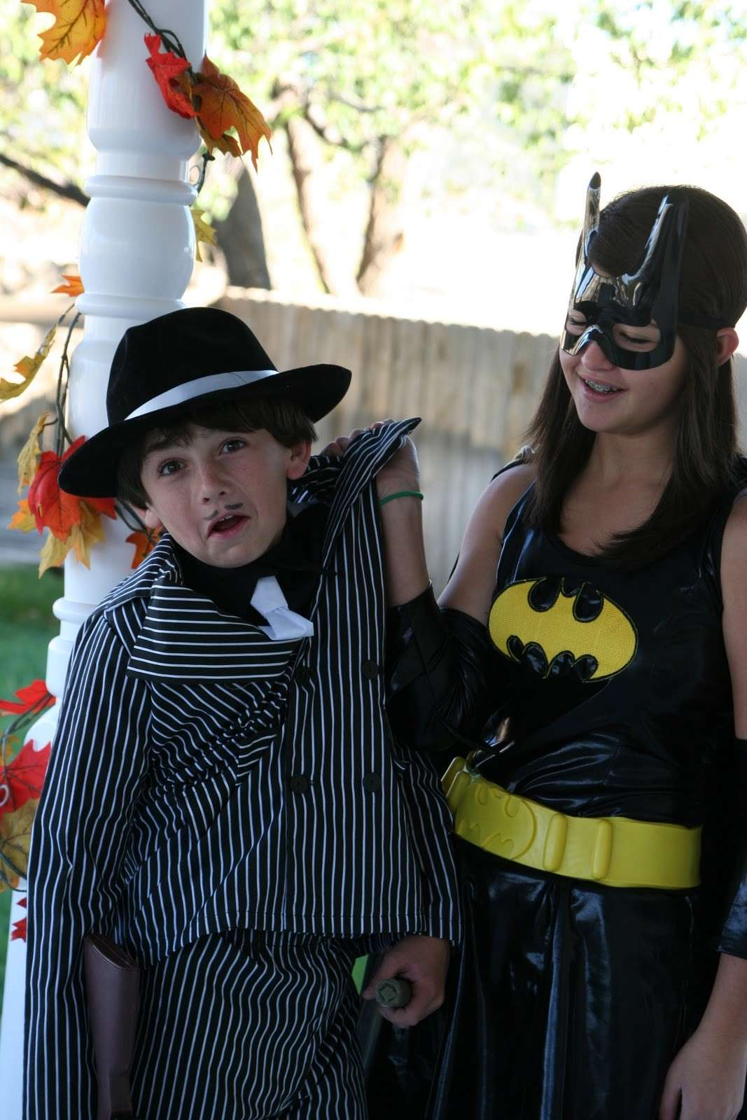 Costume da ragazzina da Catwoman per Carnevale