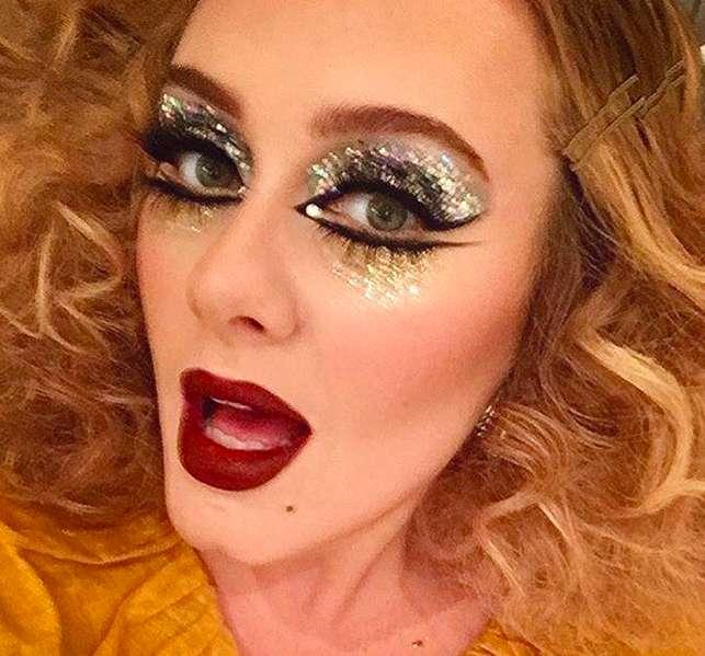Il make up glitter di Adele