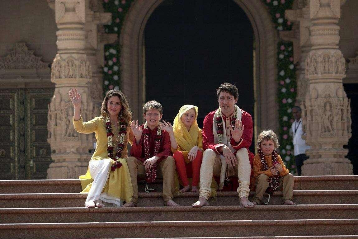 Justin Trudeau e famiglia, le foto del viaggio in India