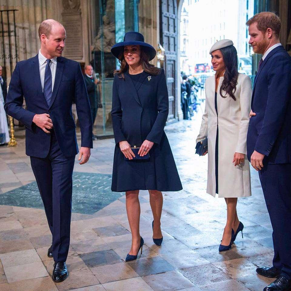 L'arrivo dei principi con Kate Middleton e Meghan Markle