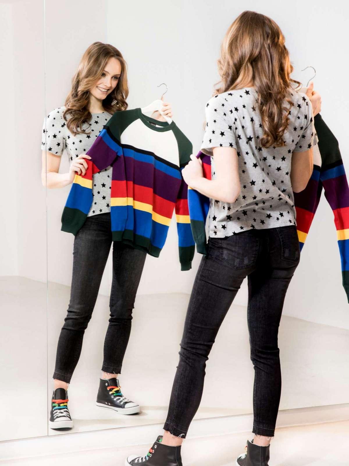 T-shirt a righe colorate Esmara by Heidi Klum Letsdenim
