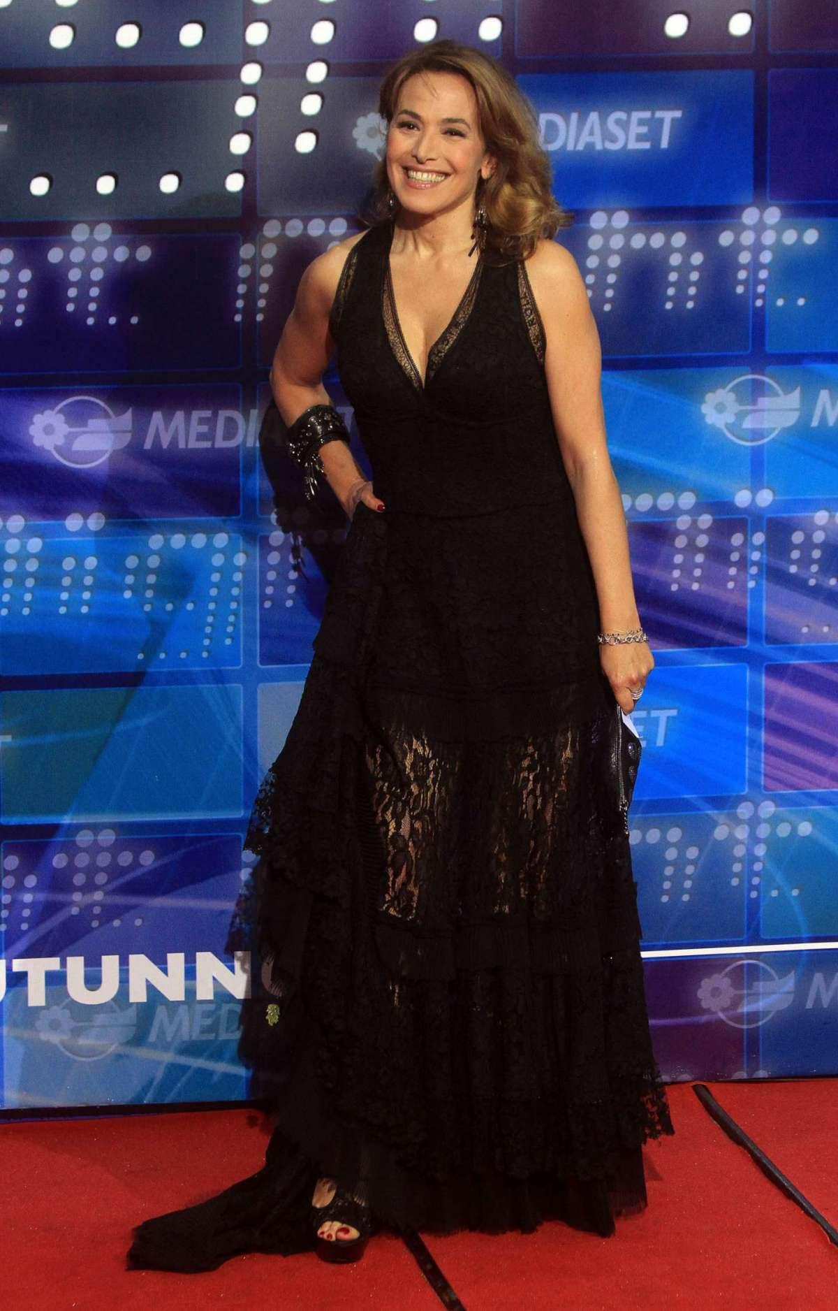 Barbara D'Urso long dress nero