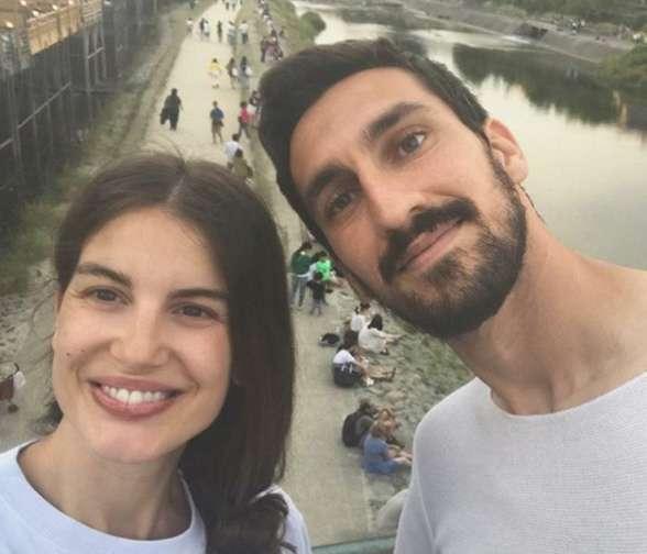 Selfie Francesca e Davide Astori