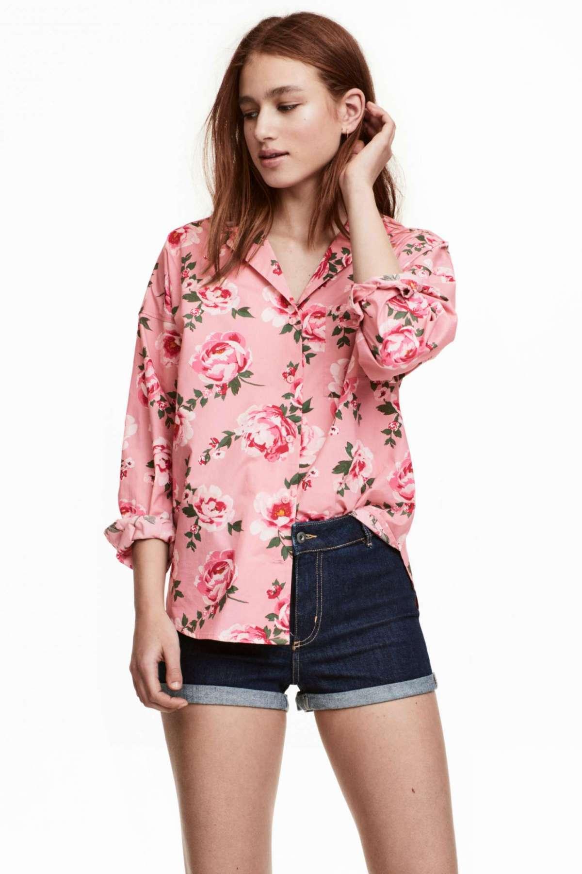 Camicia a fiori H&M