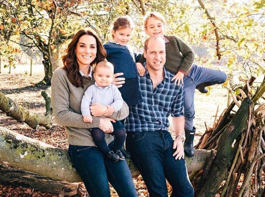 Kate e William con i tre figli