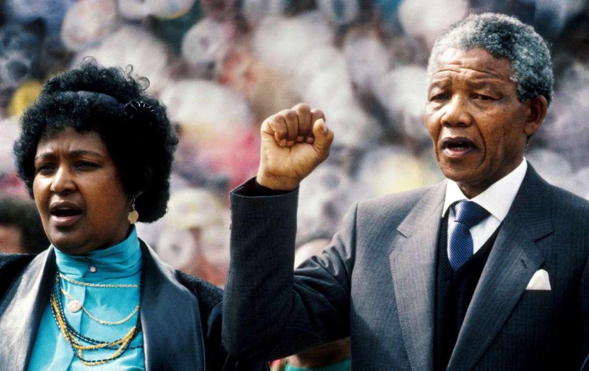 Winnie Mandela e il presidente Nelson