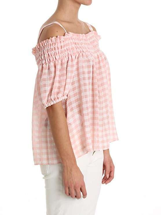 Blusa rosa a quadri Boutique Moschino