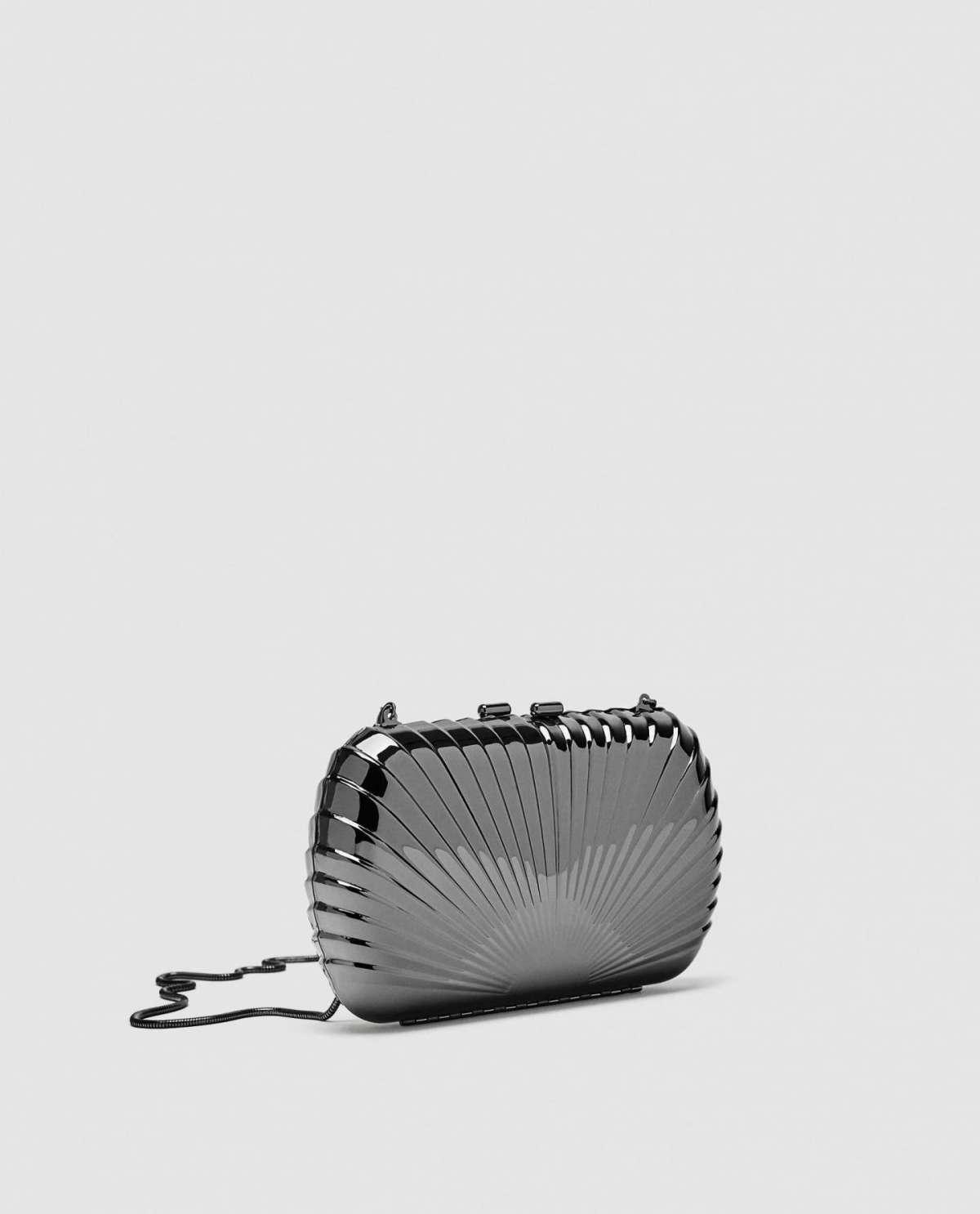Borsa da cerimonia argento Zara
