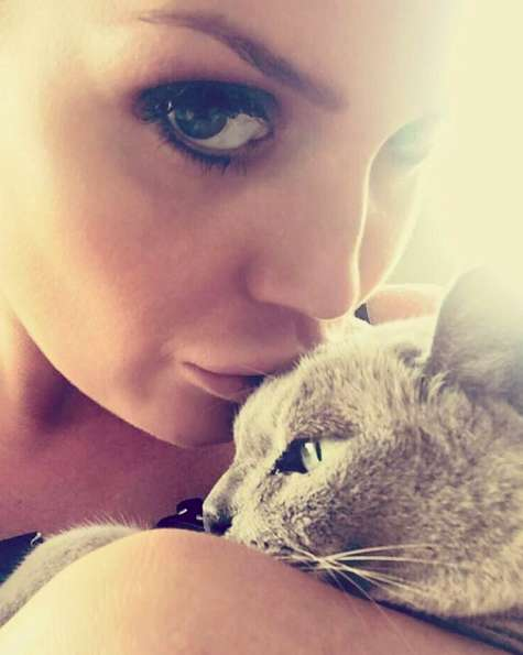 Kitty con il suo gattino