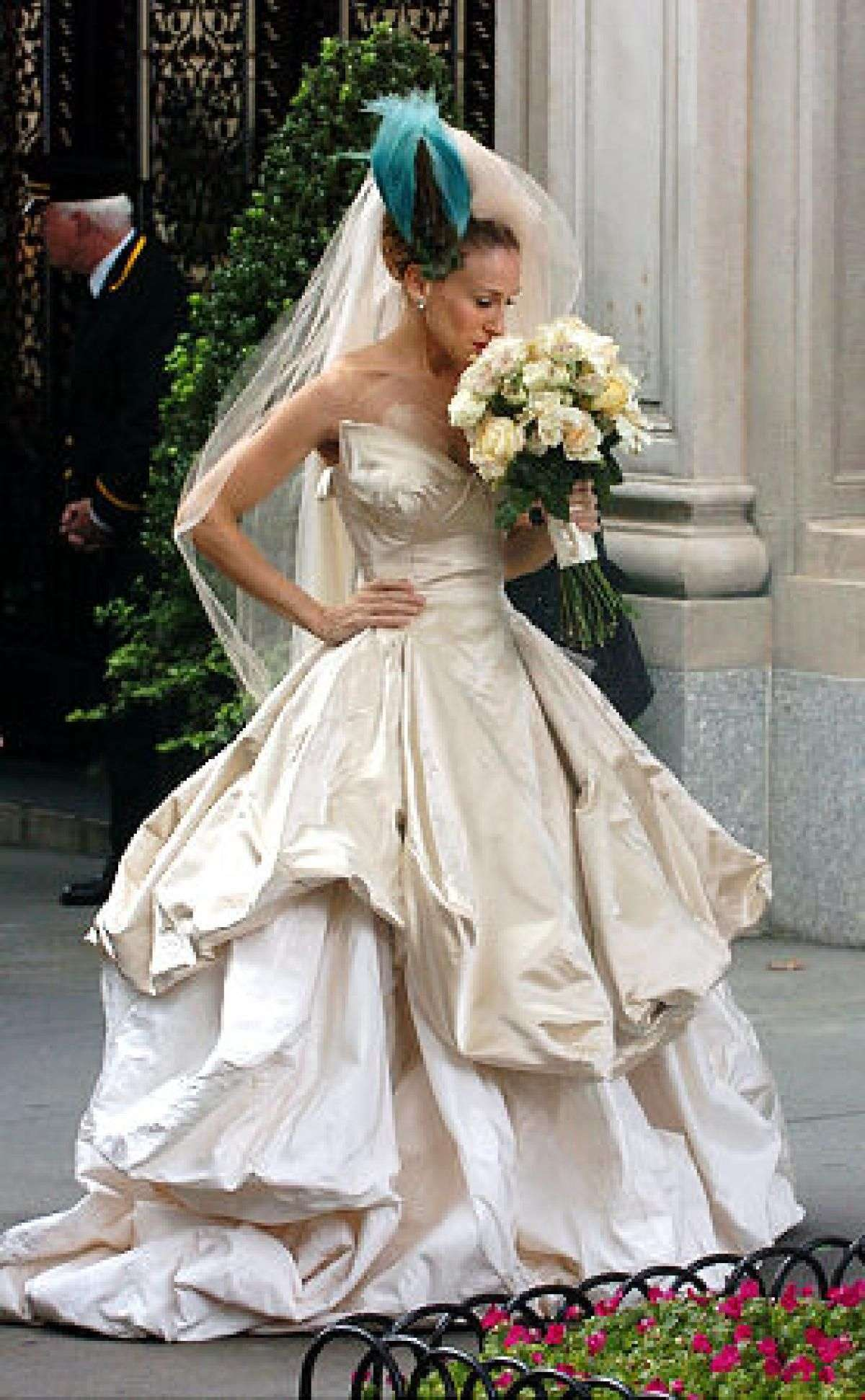 L'abito da sposa di Carrie Bradshaw in Sex and The City