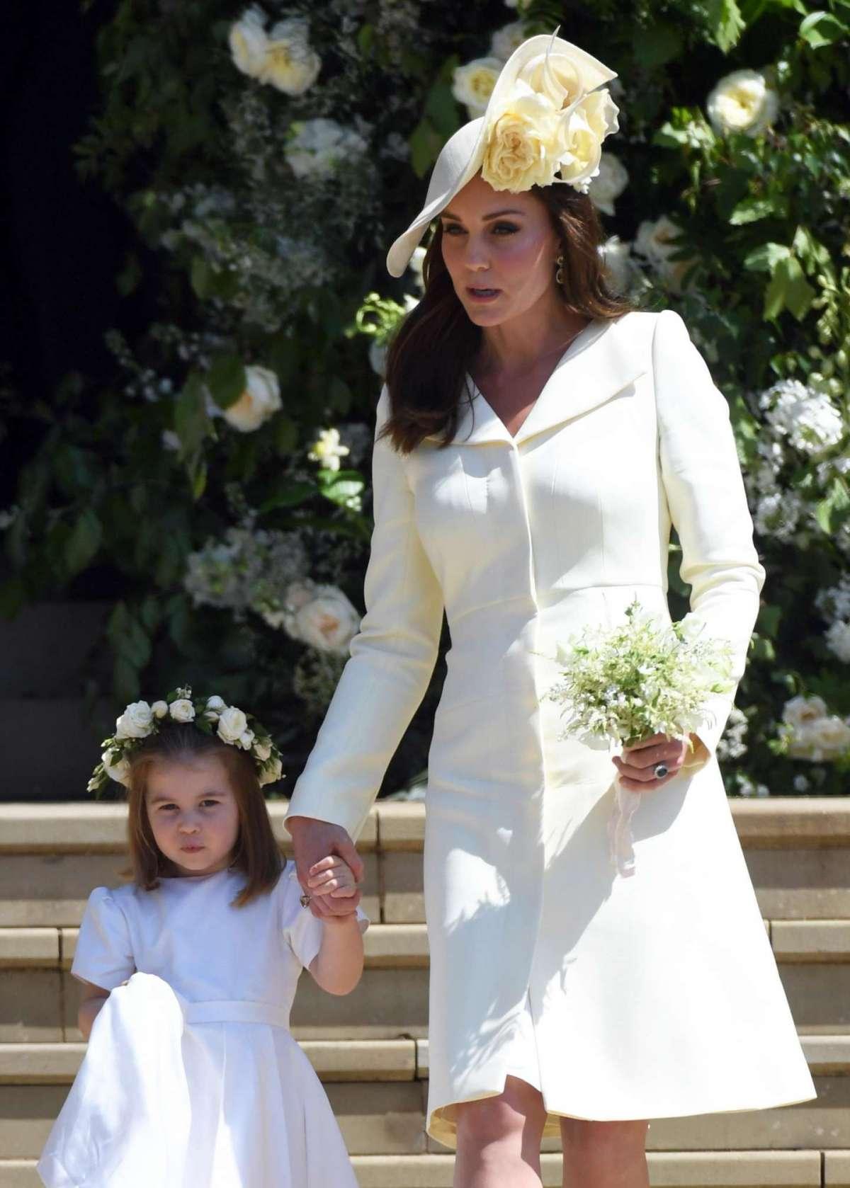La duchessa di Cambridge con Charlotte