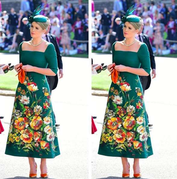 La giovane Spencer al royal wedding