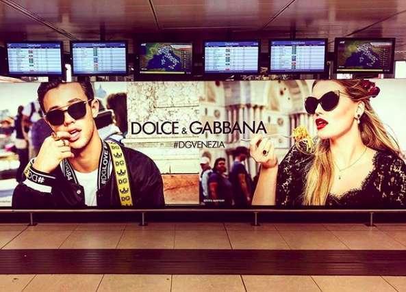 La modella nella campagna Dolce&Gabbana