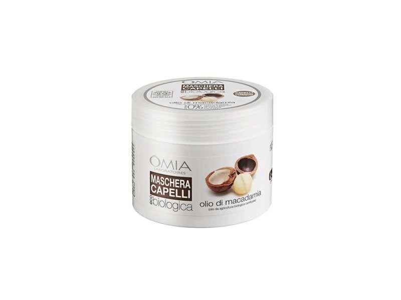 Maschera capelli bio Omia olio di macadamia