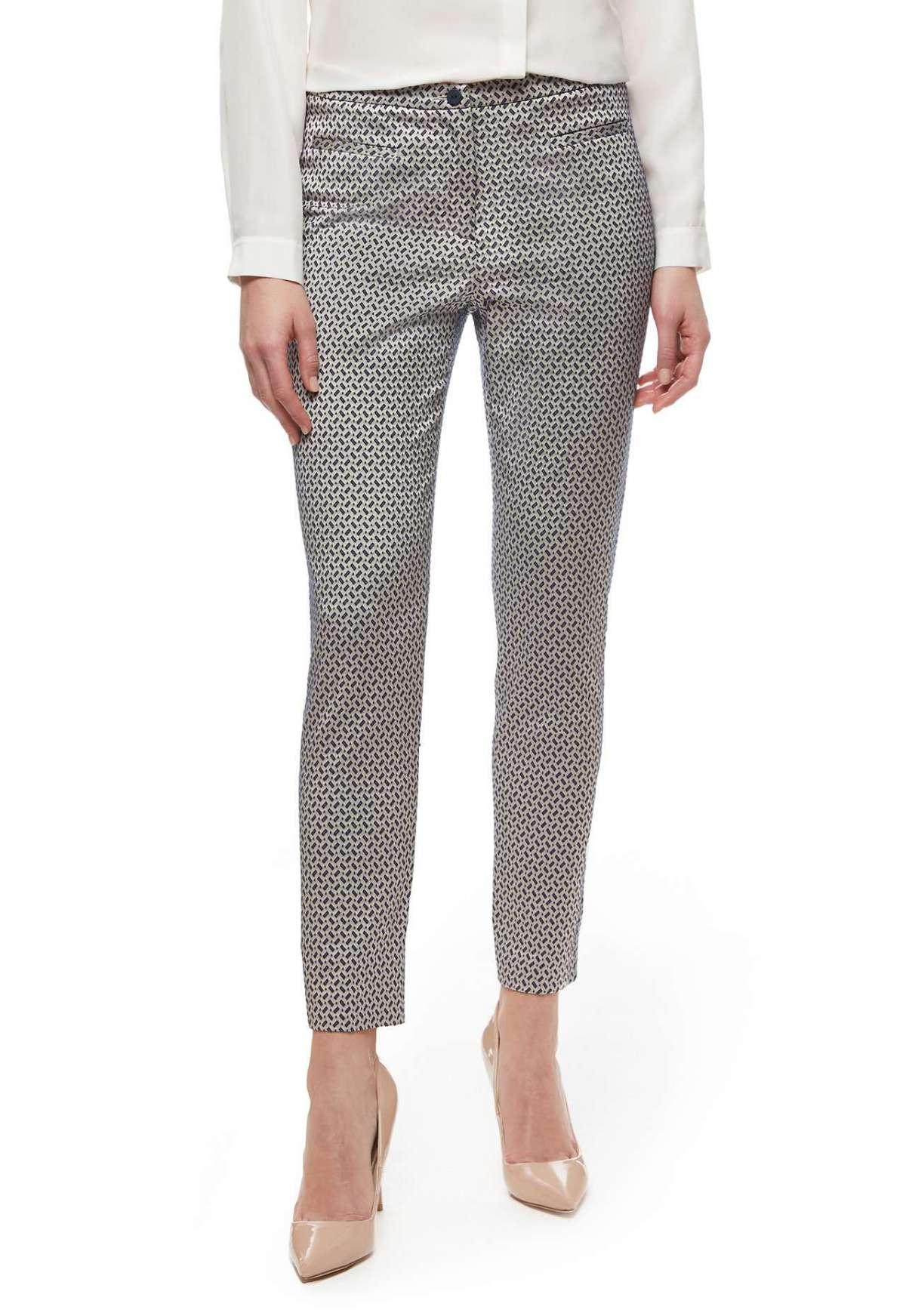 Pantaloni in jacquard geometrico Stefanel a 145 euro