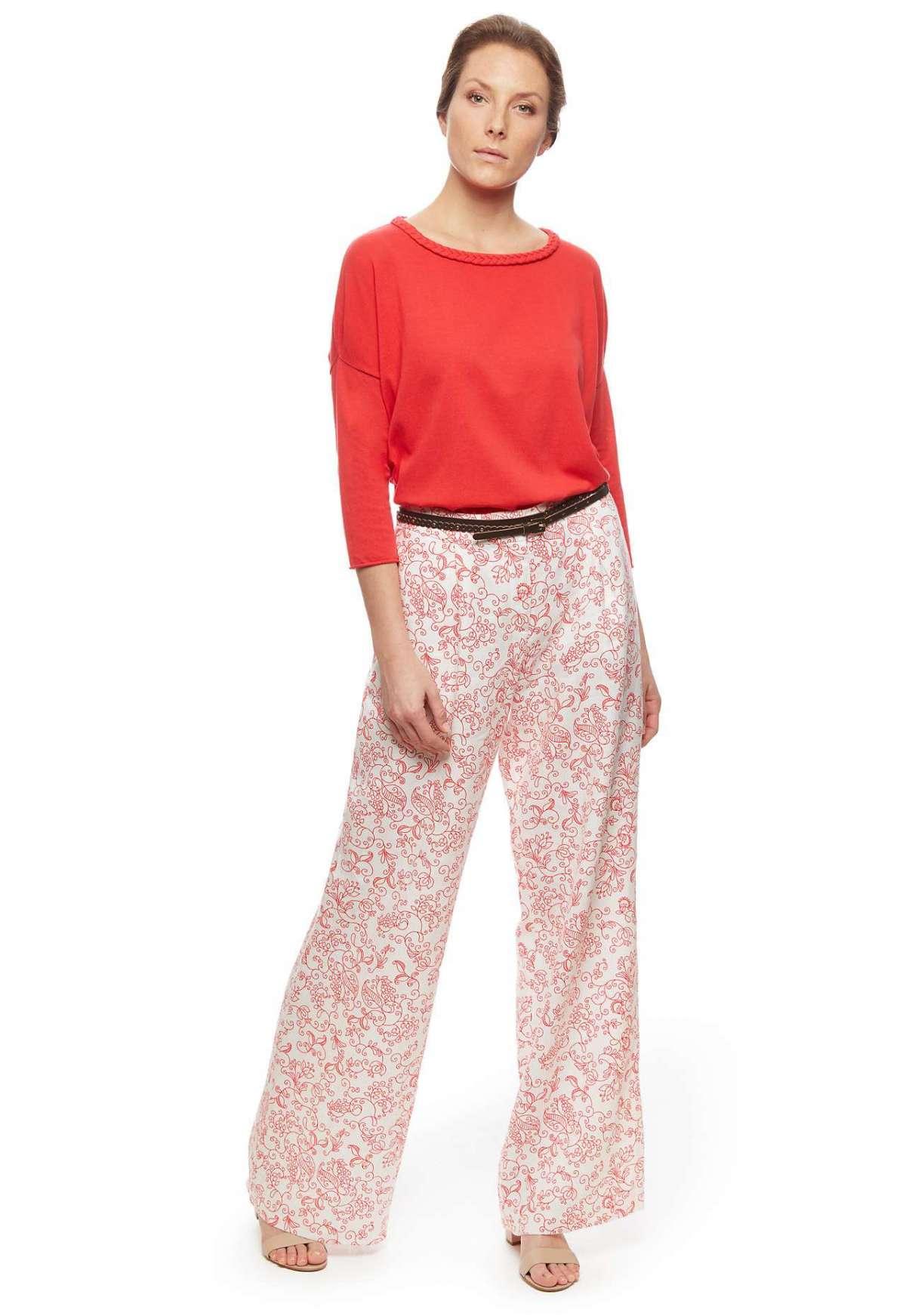 Pantaloni in lino stampato Stefanel a 130 euro