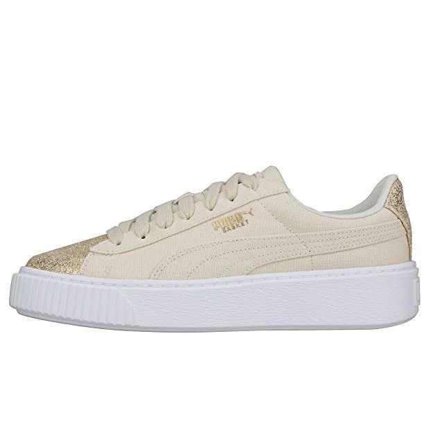 Scarpe da ginnastica beige Puma glitter