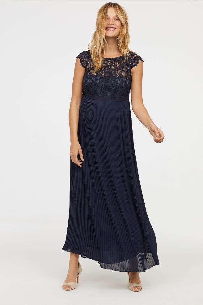 Abbigliamento premaman 2018: abito chiffon H&M