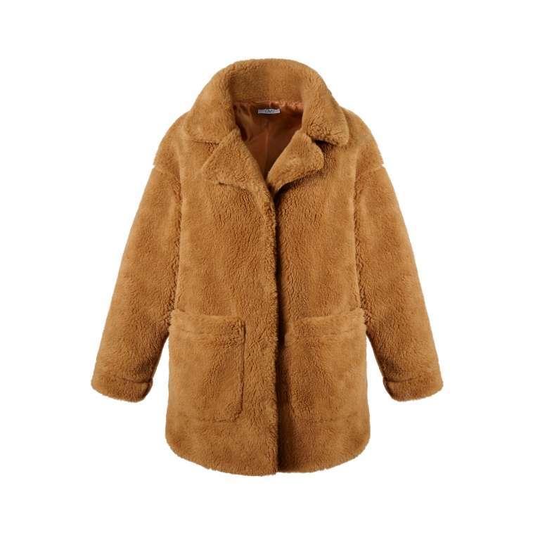 Cappotto effetto pelliccia marrone OVS