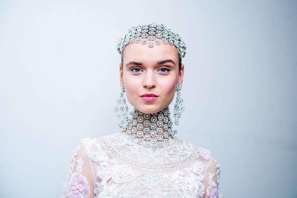 Copricapo gioiello da sposa Naeem Khan