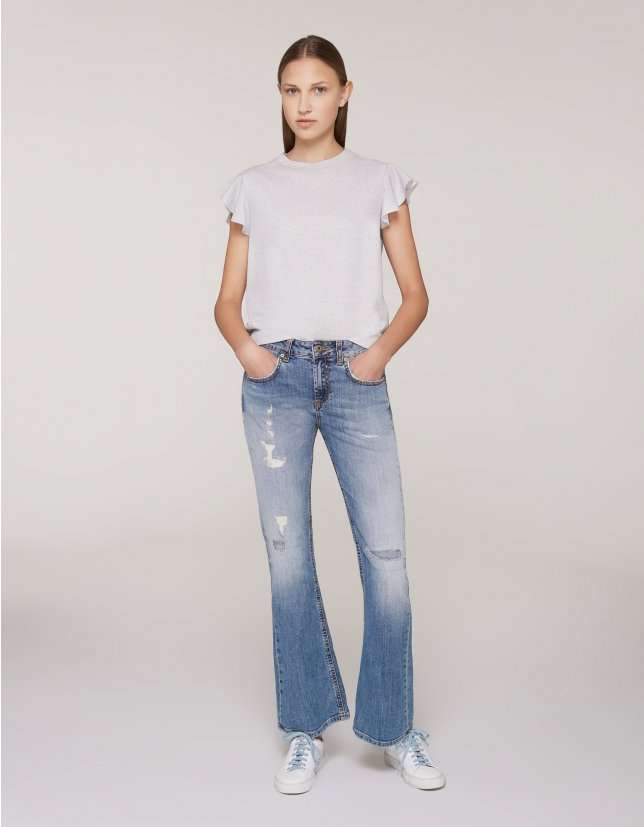 Jeans a zampa Dondup